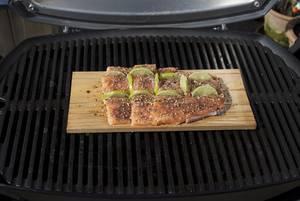 Weber Elektrogrill Lachs : Lachs auf der grillplanke mit cranberry süßkartoffeln kochmonster